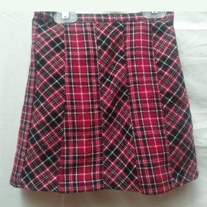 Gymboree Holiday Magic Red Black Plaid Skirt 5